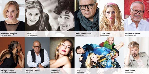 Künstlerinnnen und Künstler, die am 1. Mai 2020 im Livestream dabei sind