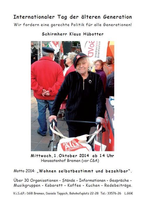 DGB Region BremenElbeWeser  Tag der Älteren