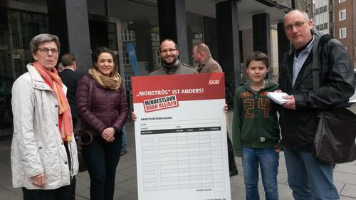 Mindestlohn Aktion Bremen
