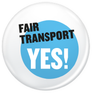Logo EBI Fairer Transport in Europa, Europäische Bürgerinitiative Fair Transport Europe