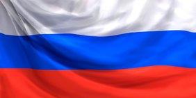 Russische Falgge weiß, blau rot quer gestreift