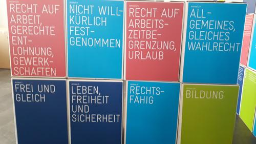 Ausstellung Würfel Menschenrechte